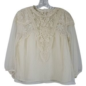 Anthro (Feather Bone) Tullemore lace top